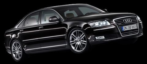 Black Audi A8 Car PNG