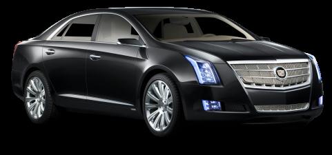 Black Cadillac XTS Platinum Car PNG