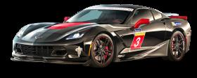 Black Chevrolet Corvette Stingray Car PNG