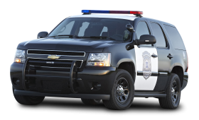 Black Chevy Tahoe Police SUV PPV Car PNG