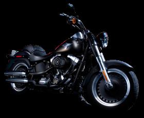 Black Color Harley Davidson PNG
