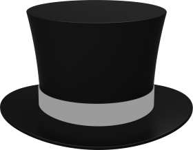 Black Cylinder Hat PNG