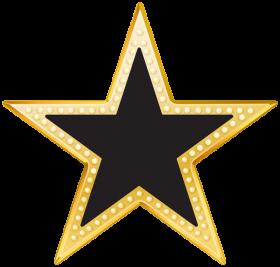 Black & Golden Star PNG