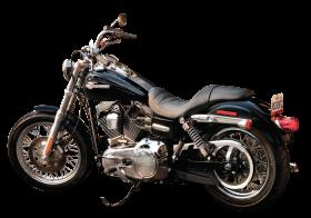 Black Harley Davidson PNG