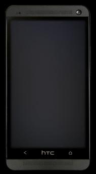 Black htc 8 PNG