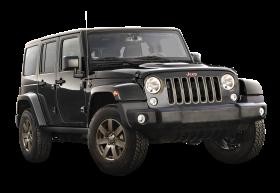 Black Jeep Wrangler Car PNG