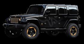 Black Jeep Wrangler Dragon Edition Car PNG