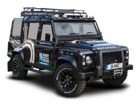 Black Land Rover Defender Car PNG