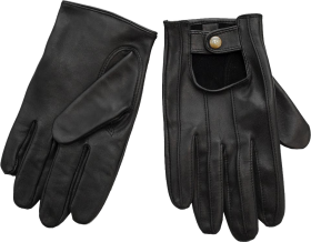 Black Leather Gloves PNG