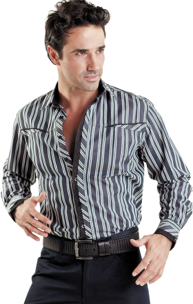 Black Long Stylish Dress Shirt PNG