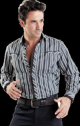 Black Long Stylish Dress Shirt PNG