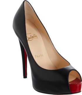 Black Louboutin Lady's  Pumps PNG