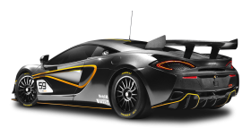 Black McLaren 570S GT4 Car PNG
