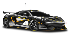 Black McLaren 570S GT4 Racing Car PNG