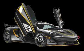 Black McLaren 570S GT4 Sports Car PNG