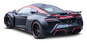 Black McLaren 650S Car Back PNG