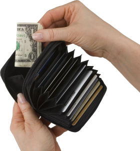 Black Open Wallet PNG