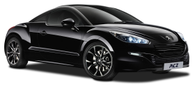 Black Peugeot RCZ Magnetic Car PNG
