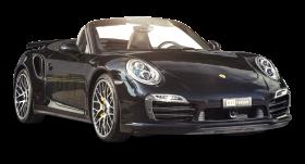 Black Porsche 911 Turbo Car PNG
