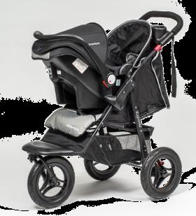 Black Pram Baby PNG