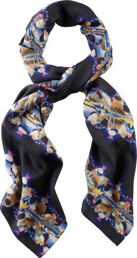 Black Printer Scarf PNG