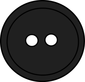 Black Round Button With 2 Hole PNG