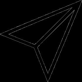 Black Shape Paper Plane PNG