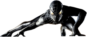 Black Spider man PNG