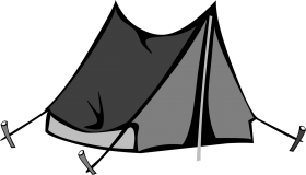 Black Tent PNG