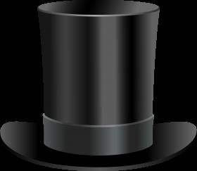 Black Top Hat PNG