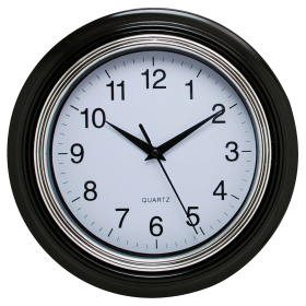 Black Wall Clock PNG