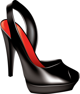 Black Women Shoe PNG