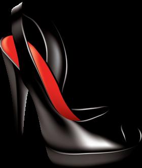 Black Women Shoe PNG
