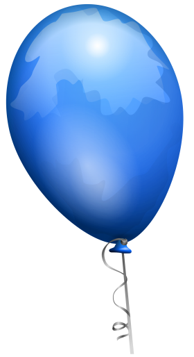 Blue Party Balloon PNG