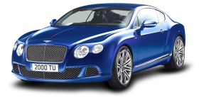Blue Bentley Continental GT Speed Car PNG