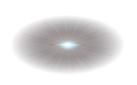 Blue Center Lens Flare PNG