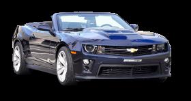 Blue Chevrolet Camaro ZL1 Convertible Car PNG