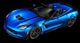 Blue Chevrolet Corvette Z06 Top View Car PNG