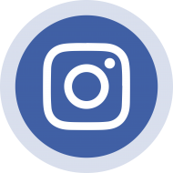 Blue Circled Instagram Logo PNG