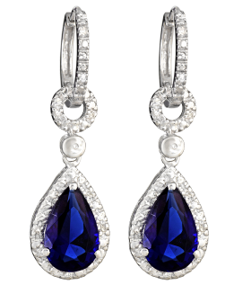 Blue Diamond Earrings PNG