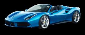 Blue Ferrari 488 Spider Car PNG