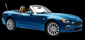 Blue Fiat 124 Spider Car PNG