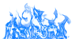 Flaming Fire Blue PNG