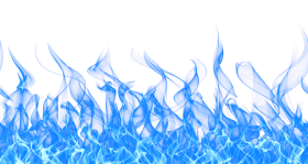 Blue Fire Flame on Ground PNG