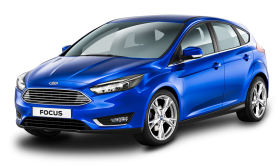 Blue Ford Focus Car PNG