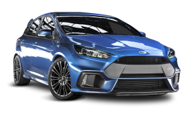 Blue Ford Focus RS Car PNG