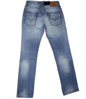 Blue  Half Wash Jeans PNG