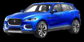 Blue Jaguar C X17 Sports Crossover Car PNG
