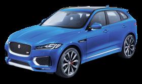 Blue Jaguar F PACE Side View Car PNG