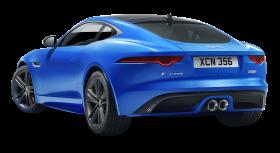 Blue Jaguar F TYPE Back View Car PNG